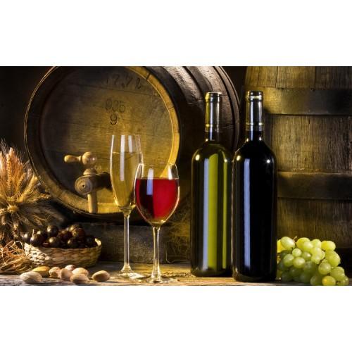 Tablou Canvas Bautura Craiova - Butoi si pahare cu vin - Persona Design