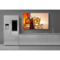 Tablou Canvas Bautura Craiova - Pahare de whisky cu gheata - Persona Design