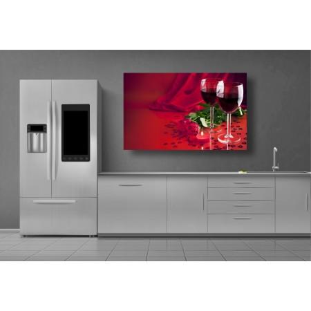 Tablou Canvas Bautura Craiova - Trandafiri si vin - Persona Design trandafiri-si-vin