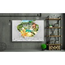 Tablou Canvas Copii Craiova - 3d unicorn si maimuta - Persona Design
