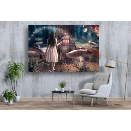 Tablou Canvas Copii Craiova - Fetita in padure - Persona Design