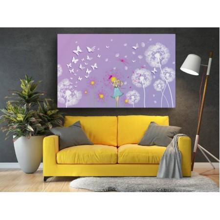 Tablou Canvas Copii Craiova - Fetita si fluturii - Persona Design