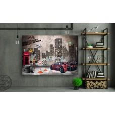 Tablou Canvas Copii Craiova - Furia rosie - Persona Design