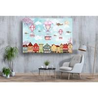 Tablou Canvas Copii Craiova - Zburand deasupra orasului - Persona Design
