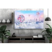 Tablou Canvas Copii Craiova - Zburand prin lume - Persona Design