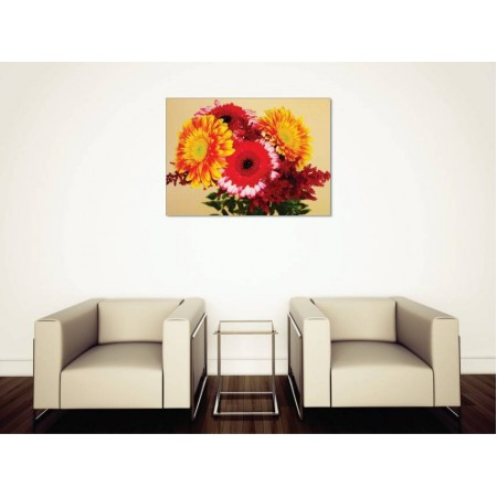Tablou Canvas Flori Craiova - Buchet viu colorat - Persona Design