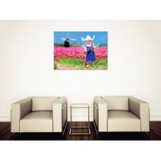 Tablou Canvas Flori Craiova - Fetita pe camp - Persona Design