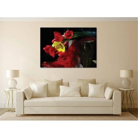 Tablou Canvas Flori Craiova - Flori colorate in vaza - Persona Design