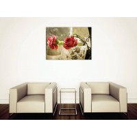 Tablou Canvas Flori Craiova - Trandafiri in vaza - Persona Design