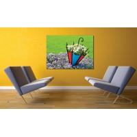 Tablou Canvas Flori Craiova - Umbrela cu flori - Persona Design