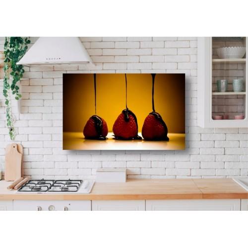 Tablou Canvas Mancare Craiova - Capsuni cu ciocolata - Persona Design