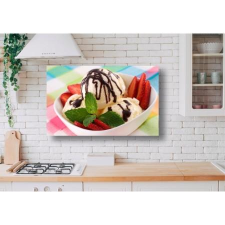 Tablou Canvas Mancare Craiova - Inghetata si capsuni - Persona Design