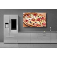 Tablou Canvas Mancare Craiova - Pizza cu salam si masline - Persona Design