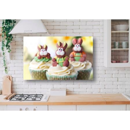 Tablou Canvas Mancare Craiova - Prajituri cu iepurasi - Persona Design