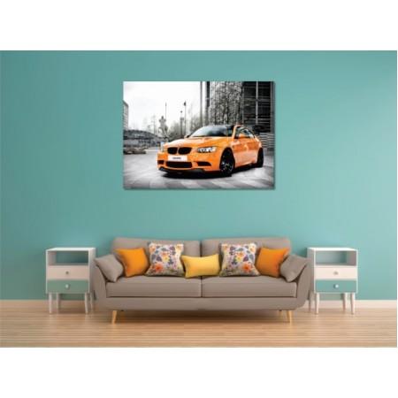 Tablou Canvas Masini Craiova - Limuzina portocalie - Persona Design