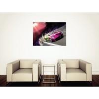 Tablou Canvas Masini Craiova - Masina multicolora la apus - Persona Design