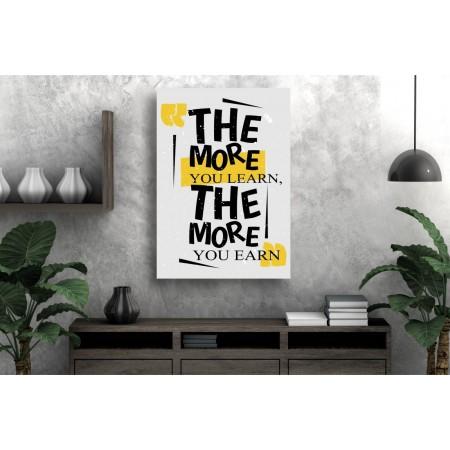 Tablou Canvas Motivational Craiova - Dobandesti invatand - Persona Design