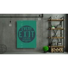 Tablou Canvas Motivational Craiova - Fiecare iesire este intrarea altundeva - Persona Design
