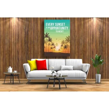 Tablou Canvas Motivational Craiova - Fiecare rasarit este o noua oportunitate - Persona Design