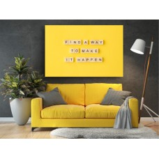 Tablou Canvas Motivational Craiova - Gaseste o modalitate - Persona Design