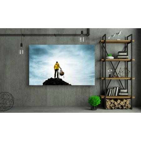 Tablou Canvas Motivational Craiova - In varful muntelui la rasarit - Persona Design