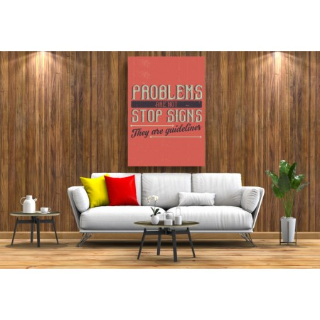 Tablou Canvas Motivational Craiova - Problemele sunt doar linii de ghidare - Persona Design