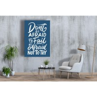 Tablou Canvas Motivational Craiova - Sa nu iti fie frica sa incerci - Persona Design