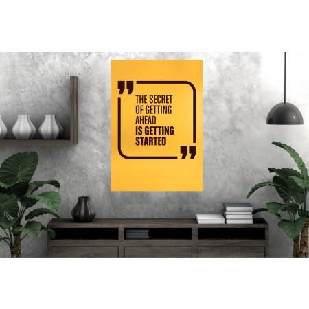 Tablou Canvas Motivational Craiova - Secretul mersului inainte - Persona Design