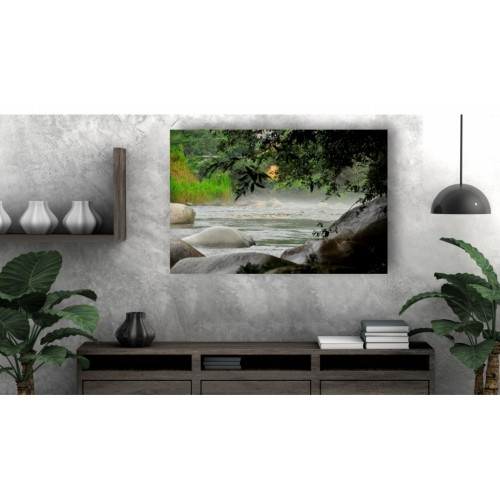 Tablou Canvas Natura Craiova - Apa trece pietrele raman - Persona Design