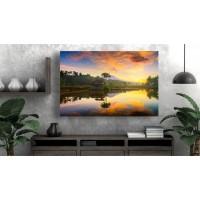 Tablou Canvas Natura Craiova - Apus in oglinda- Persona Design