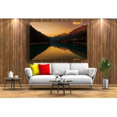 Tablou Canvas Natura Craiova - Apus pe Lacul Sfanta Ecaterina- Persona Design