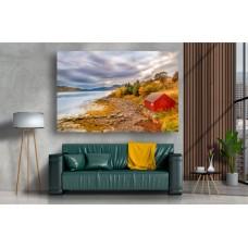 Tablou Canvas Natura Craiova - Cabana pe malul lacului- Persona Design