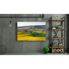 Tablou Canvas Natura Craiova - Campia insorita din Toscana- Persona Design