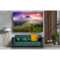 Tablou Canvas Natura Craiova - Campiile si muntii- Persona Design