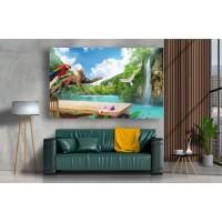 Tablou Canvas Natura Craiova - Cascada din jungla - Persona Design