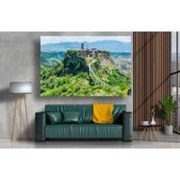 Tablou Canvas Natura Craiova - Castelul munte din Italia- Persona Design
