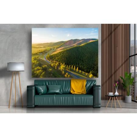 Tablou Canvas Natura Craiova - Dimineata pe dealurile din Australia- Persona Design