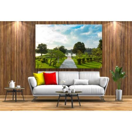 Tablou Canvas Natura Craiova - Faleza pe lac- Persona Design