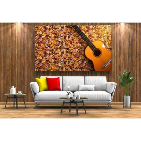 Tablou Canvas Natura Craiova - Frunze si chitara - Persona Design