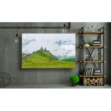 Tablou Canvas Natura Craiova - Manastirea din varful dealului - Persona Design