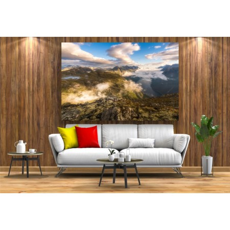 Tablou Canvas Natura Craiova - Munti din Norvegia - Persona Design