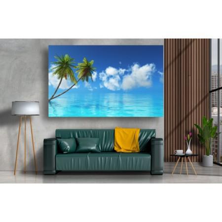 Tablou Canvas Natura Craiova - Palmieri pe apa - Persona Design