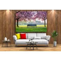 Tablou Canvas Natura Craiova - Pe o banca din parc - Persona Design