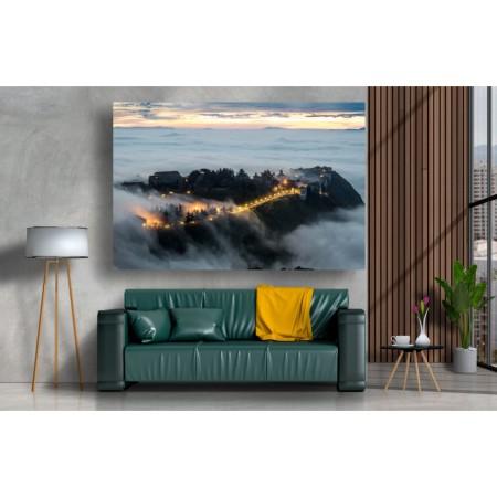 Tablou Canvas Natura Craiova - Peisaj Sicilian in ceata - Persona Design