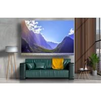Tablou Canvas Natura Craiova - Rasarit printre munti - Persona Design