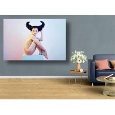 Tablou Canvas Sexi Craiova - Femeie cu coarne - Persona Design