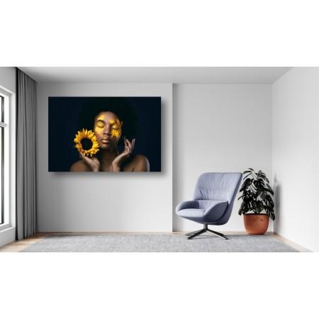 Tablou Canvas Sexi Craiova - Femeie cu floarea soarelui - Persona Design
