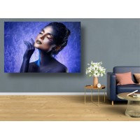 Tablou Canvas Sexi Craiova - Femeie cu machiaj albastru sexy - Persona Design