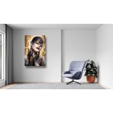 Tablou Canvas Sexi Craiova - Femeie cu makeup artistic auriu - Persona Design