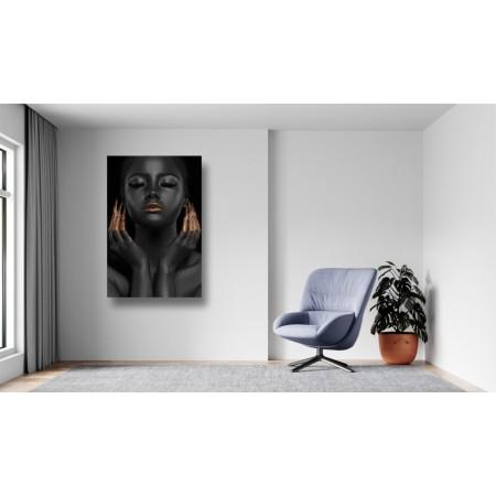 Tablou Canvas Sexi Craiova - Femeie cu ruj auriu - Persona Design
